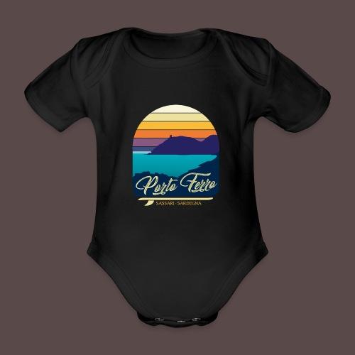 Porto Ferro - Vintage travel sunset - Body ecologico per neonato a manica corta