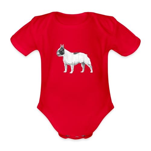 French Bulldog - Kortærmet babybody, økologisk bomuld