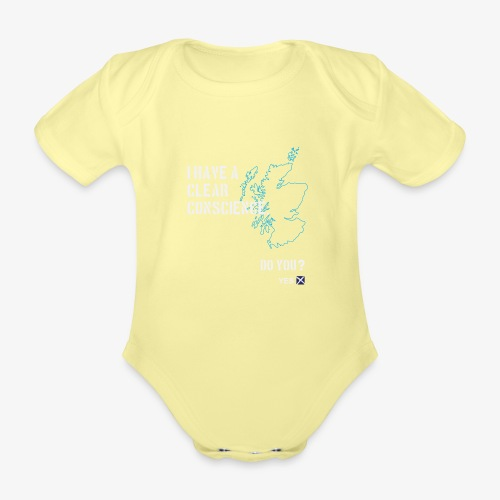 Clear Conscience - Organic Short-sleeved Baby Bodysuit