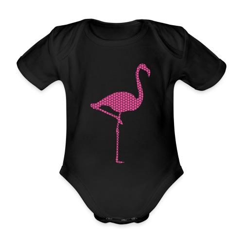 Flamingo Pink - Baby Bio-Kurzarm-Body