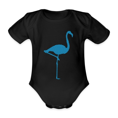 Flamingo Hellblau - Baby Bio-Kurzarm-Body