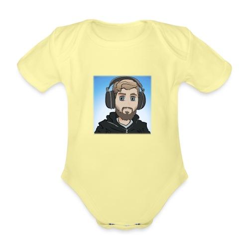 KalzAnimated - Kortærmet babybody, økologisk bomuld