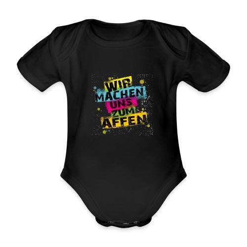 Wir machen uns zum AFFEN - Baby Bio-Kurzarm-Body