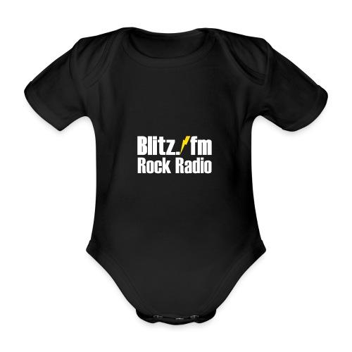 BLITZ FM TSHIRT Schwarz - Baby Bio-Kurzarm-Body