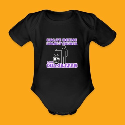 Kinderfrei - Baby Bio-Kurzarm-Body