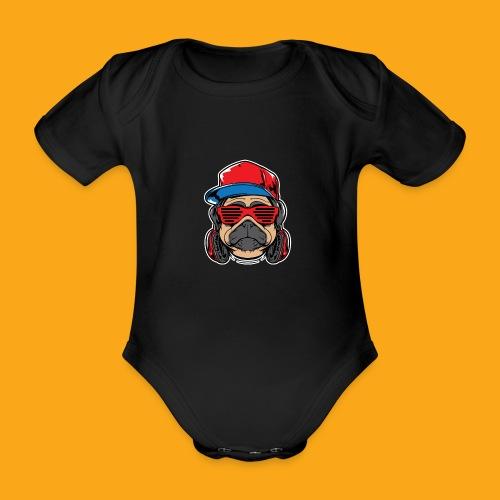 Pug the DJ - Baby Bio-Kurzarm-Body