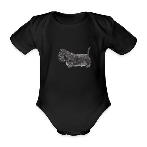 skotsk terrier ub - Kortærmet babybody, økologisk bomuld