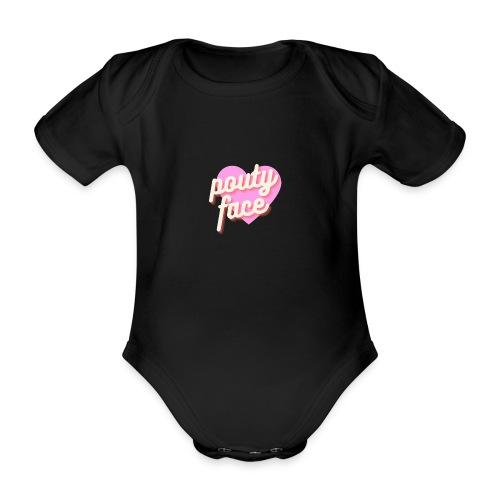 Pouty face - Ekologiczne body niemowlęce z krótkim rękawem