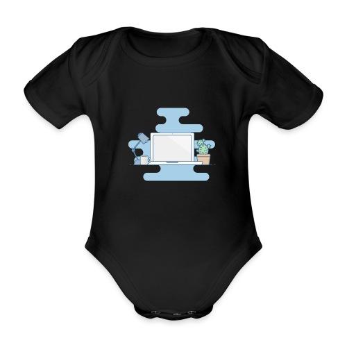 Arbeitstisch - Baby Bio-Kurzarm-Body