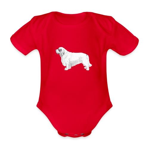 clumber spaniel - Kortærmet babybody, økologisk bomuld