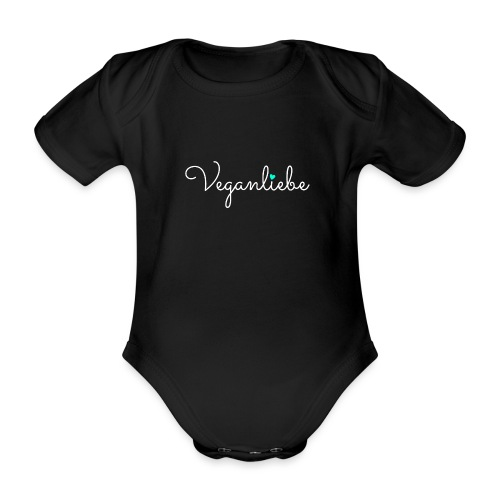 Veganliebe Logo Schriftzug für Veganer - Baby Bio-Kurzarm-Body