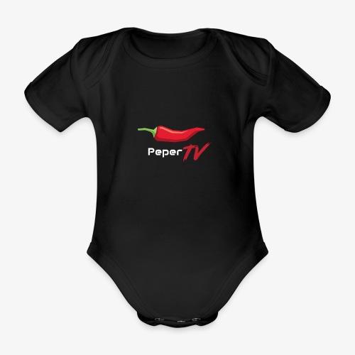 PeperTV - Baby bio-rompertje met korte mouwen