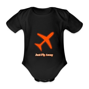 Just Fly Away - Organic Short-sleeved Baby Bodysuit