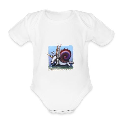 Unichiocciolo - Body ecologico per neonato a manica corta