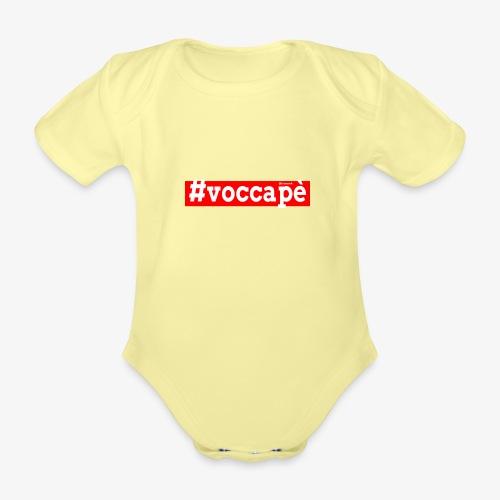 Voccapè - Body ecologico per neonato a manica corta