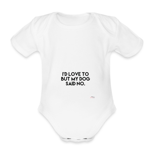 Big Boss said no - Organic Short-sleeved Baby Bodysuit