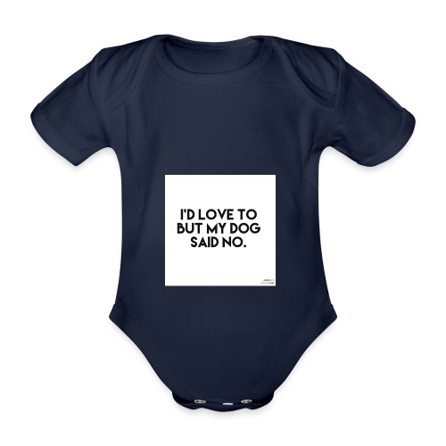 Big Boss said no - Organic Short-sleeved Baby Bodysuit