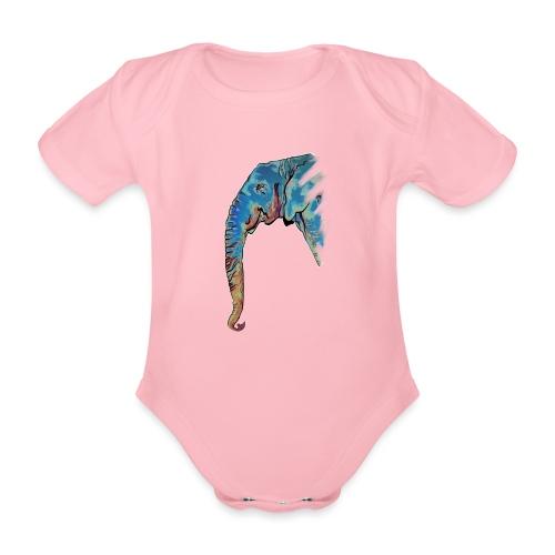Éléphant Design - Body Bébé bio manches courtes