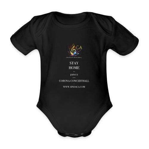 stay home02 - Baby Bio-Kurzarm-Body