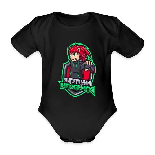 styrian hedgehog Logo - Baby Bio-Kurzarm-Body