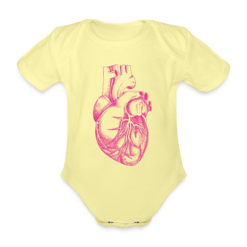 COEUR HUMAIN - Body Bébé bio manches courtes