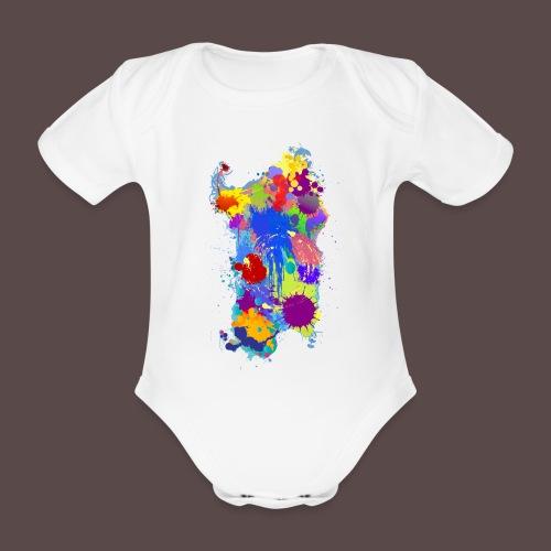 Sardegna Silhouette Paint - Body ecologico per neonato a manica corta