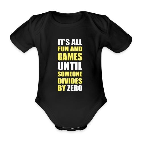 Divide by Zero - Ekologiczne body niemowlęce z krótkim rękawem