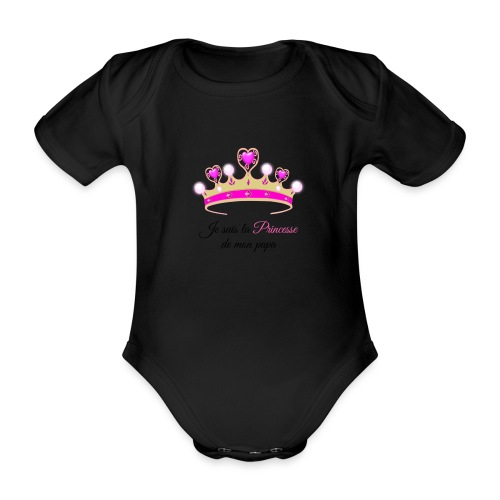 princesse de Papa - Body Bébé bio manches courtes