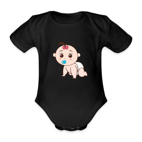 Liegendes Baby - Baby Bio-Kurzarm-Body
