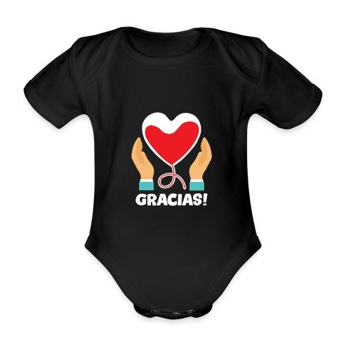 GRACIAS - Body orgánico de maga corta para bebé