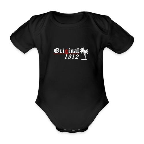 1312 logo white - Baby Bio-Kurzarm-Body
