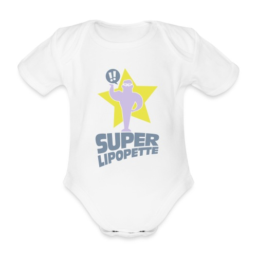 SUPER LIPOPETTE - Body Bébé bio manches courtes