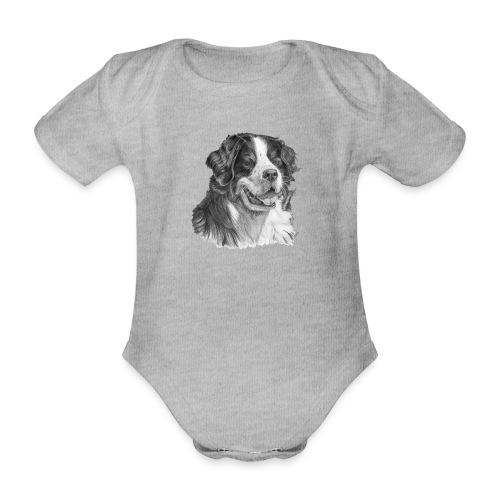 Bernese mountain dog - Kortærmet babybody, økologisk bomuld