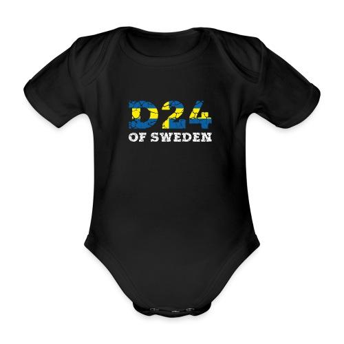D24OFSWEDEN - Ekologisk kortärmad babybody