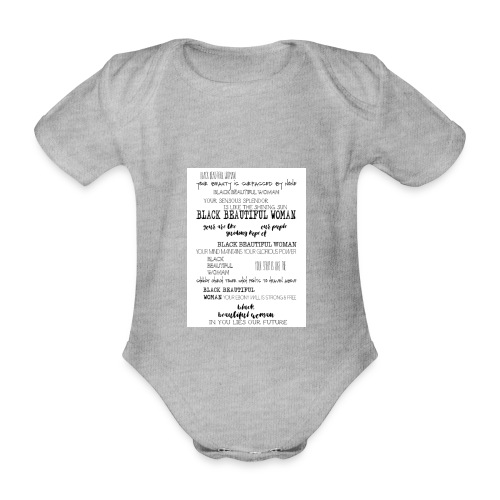 Beautiful Black Woman - Organic Short-sleeved Baby Bodysuit