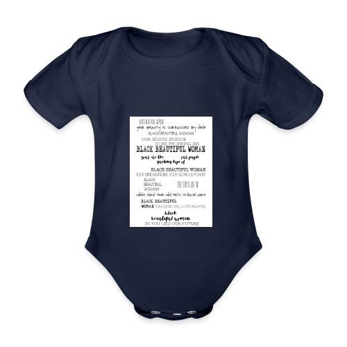 Beautiful Black Woman - Organic Short-sleeved Baby Bodysuit