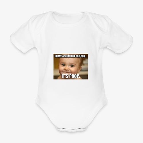 Babywear Surprise T-Shirt - Organic Short-sleeved Baby Bodysuit