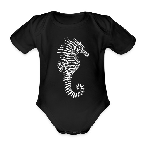 Alien Seahorse Invasion - Organic Short-sleeved Baby Bodysuit