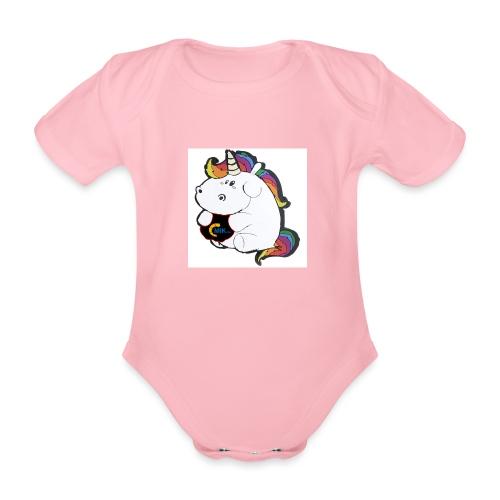 MIK Einhorn - Baby Bio-Kurzarm-Body