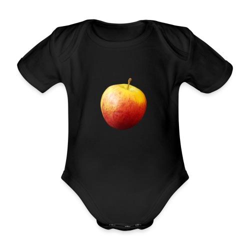 rood fruit met een naam - Baby bio-rompertje met korte mouwen