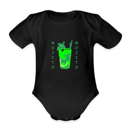 Mojito bicchiere colorato - Body ecologico per neonato a manica corta