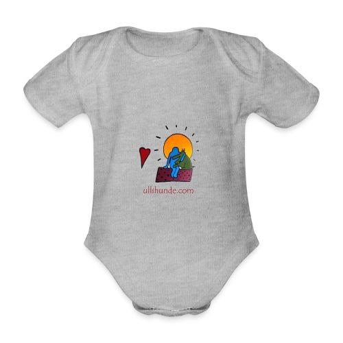 Ullihunde - Logo RETRO - Baby Bio-Kurzarm-Body