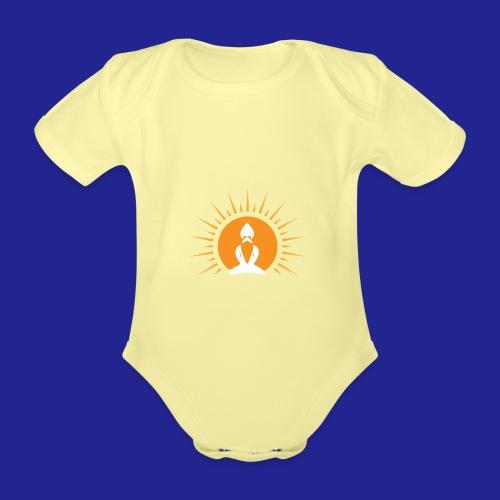 Guramylyfe logo no text - Organic Short-sleeved Baby Bodysuit