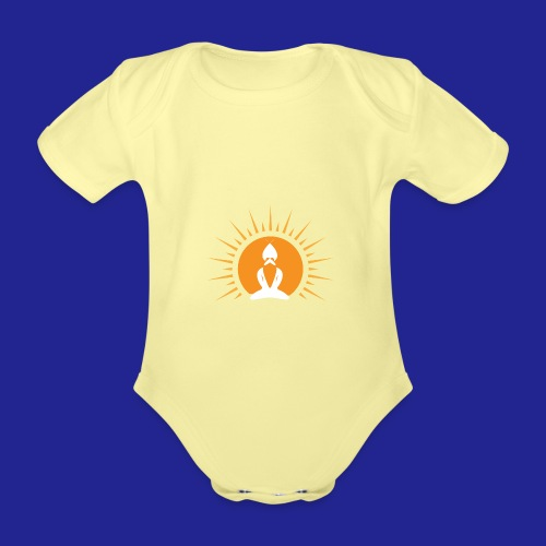 Guramylyfe logo white no text - Organic Short-sleeved Baby Bodysuit