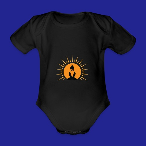 Guramylife logo black - Organic Short-sleeved Baby Bodysuit