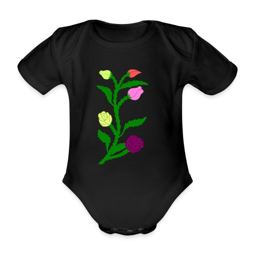 fleurs - Body Bébé bio manches courtes