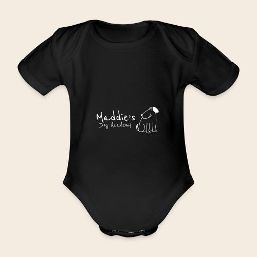 Académie des chiens de Maddie (blanc) - Body Bébé bio manches courtes