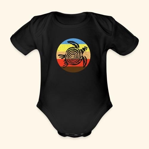 Barbudan Turtle Retro - Organic Short-sleeved Baby Bodysuit