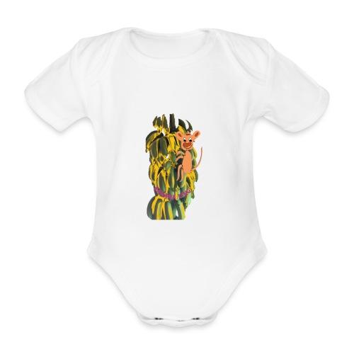 Bananas king - Organic Short-sleeved Baby Bodysuit