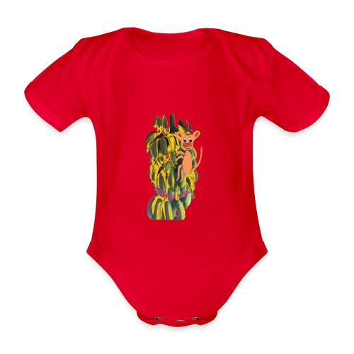 Bananas king - Organic Short-sleeved Baby Bodysuit